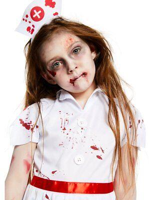 Girls Zombie Scrub Nurse Costume Kids Halloween Horror Fancy Dress Outfit Child - Kids Nurse Outfit