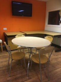 Second-hand stylish canteen table and chairs
