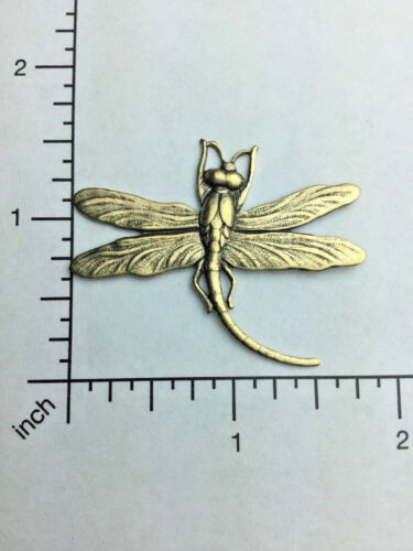 34173 Brass Oxidize Victorian Large Dragonfly Jewelry Finding