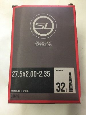 "Qty 2 MTB Inner tube 27.5x2.10-2.35 Racing Thick Walls  27.5/"" 650B Presta 33mm"
