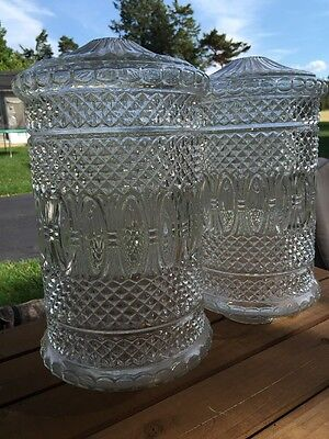 """Fantastic Large Glass Lamp Spacers Or Swags 16"""" Tall 8"""" Diameter - Italy"""