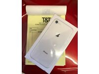 IPhone 8,unlock to all network,256 gb,silver colour,BrandNew,sealed