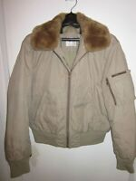 MENS RARE GAS JEANS ITALY FLIGHT BOMBER JACKET SIZE MEDIUM