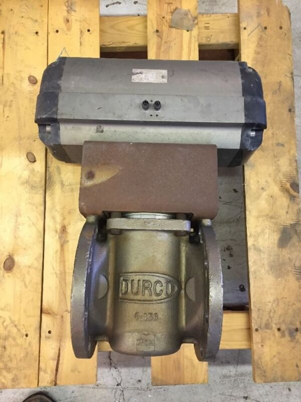 """Durco Plug Valve 6"""" Class 150 Stainless Steel Body, W/ Automax Actuator"""