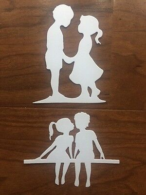 4 Paper Die Cuts Friends. Boy & Girl. Brother & Sister. First Love Scrapbooking