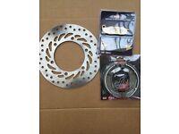 Honda CBF CBF125 CBF150 Front Brake Disc & Pad & Shoe 2009 2010 2012 2013 2014