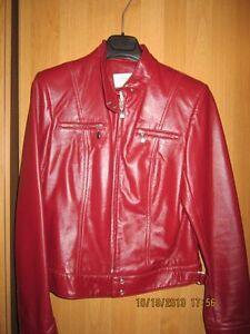 ladies Burgundy/Wine leather jacket