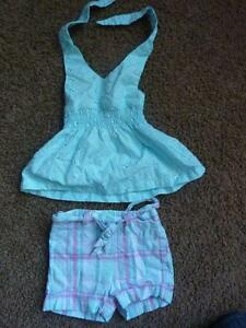 Blue Short Outfit - Size 12 Months