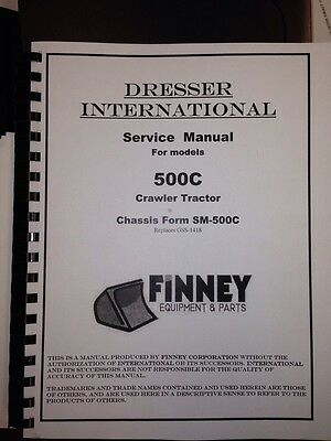 International Ih 500c Crawler Tractor Service Manual Chassis Form Sm-500c Dozer