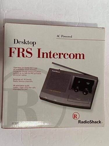 Radio Shack Desktop FRS Intercom  21-1845 Tested Works Great Power Cord Included