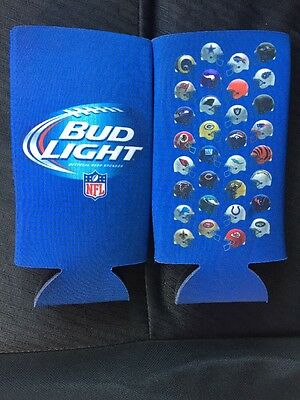 New! 4 Authentic NFL Bud Light 24/25oz Beer Bottle Can Koozie Coozie