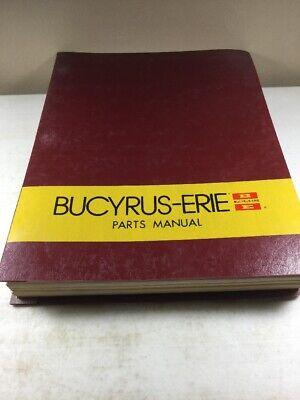 Bucyrus Erie 350h Excavator Parts Catalog Manual Original