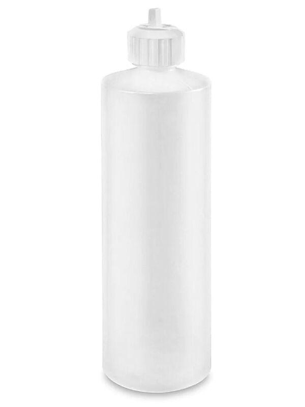 8 Oz. Natural Plastic Cylinder Bottles with Flip Top Cap