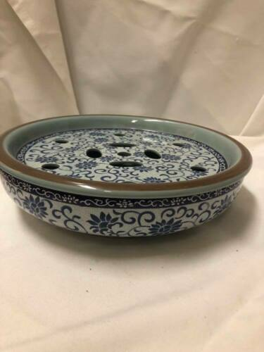 Asian Porcelain Serving Dish with Warming Insert