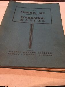 VINTAGE CAR WORKSHOP MANUAL MORRIS SIX SERIES MS BY MORRIS MOTORS LIMITED 1949