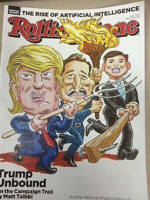 Rolling Stone Magazine March 10, 2016 Donald Trump, Cruz, Rubio