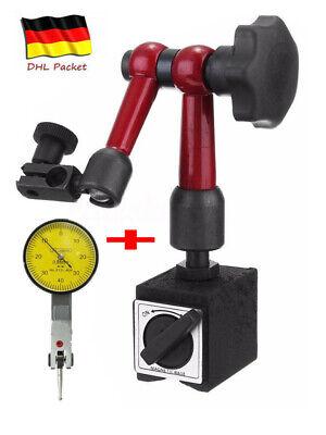 Profi Magnet Messstativ mit Messuhr Zentralklemmmung Messuhrhalter ~DHL~ (Messuhr Magnet)