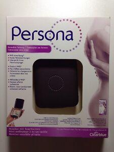 Persona Monitor Touchscreen Hormonfreie Verhütung mit Teststäbchen Clearblue