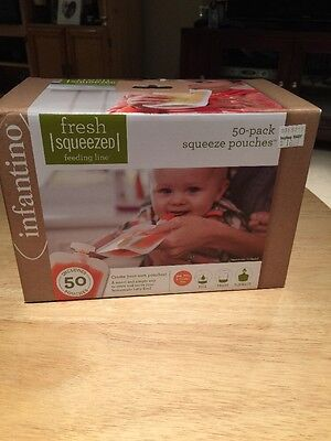 Squeeze Pouches Infantino 50 Count Fresh New Baby Food Station Feeding Puree New
