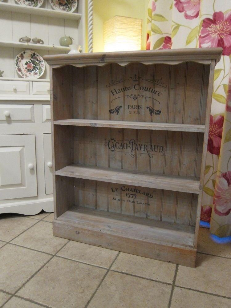 Country Farmhouse Style Open Bookcase Shelving Unit Bookshelves