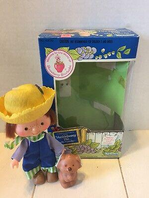 VINTAGE Kenner Strawberry Shortcake Huckleberry Pie Pupcake Scented Doll 43030