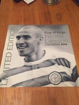 Celtic Henrik Larsson Calendar 02 + 04 Signed Photo