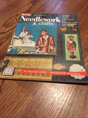 McCalls Needlework & Crafts Magazine VTG 1960's Spring Summer Decorator Settings
