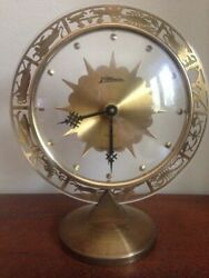 Atlanta ~  7 Jewels ~ Zodiac Signs Vintage Desk Tabletop Clock 7 Tall