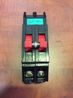 Zinsco Type Qc 20amp 2 Pole Circuit Breaker 120240vac - Used