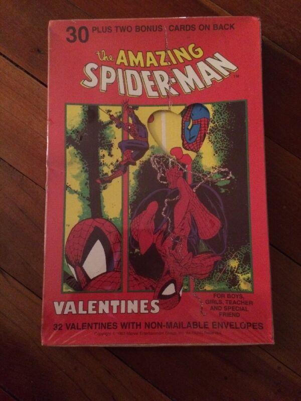 1992 MARVEL THE AMAZING SPIDER MAN 32 PIECE VALENTINE CARDS SEALED spiderman VTG