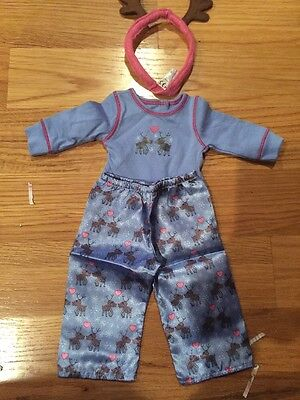 American Girl Doll Reindeer Outfit With - Reindeer Outfit