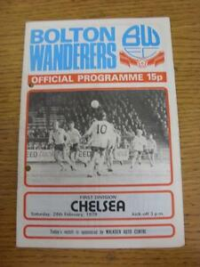 24-02-1979-Bolton-Wanderers-v-Chelsea-Creased-Fold-Punched-Holes
