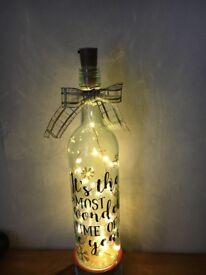 Decorative wine bottle xmas lamps