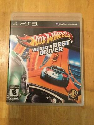 Hot Wheels: World's Best Driver (Sony PlayStation 3, 2013) (Best Ps4 Racing Wheel)