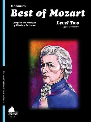 Best of Mozart Level 2 Upper Elementary Level Educational Piano Book