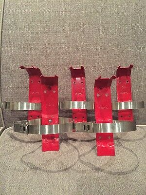 Lot Of Five 5 Lb Fire Extinguisher Wall Bracket Commercial Residential Vehicle