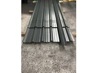 Box profile roofing sheets. slate grey polyester