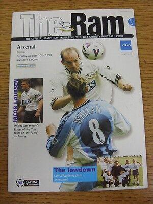 10/08/1999 Derby County v Arsenal  (Torn & Creased On Back)