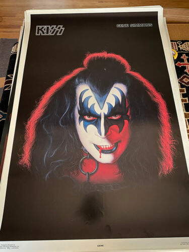 KISS VINTAGE 1978 78 GENE SIMMONS SOLO ALBUM NOS AUCOIN MGT POSTER -NICE!