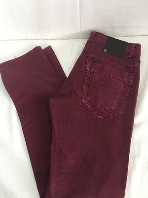 Womens Terra Nostra Maroon Color Jeans Size 32 Style Ps 001