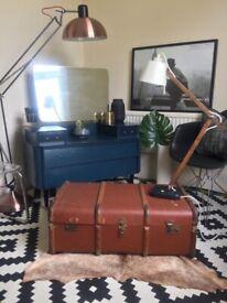 ❤️RRP £240❤️ Stunning Designer Oversized Bronze Retro Floor lamp. As New.