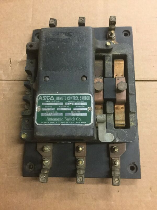 Asco 927 Bulletin 920 Remote Control Switch 75A 600V with 110-120V Coil