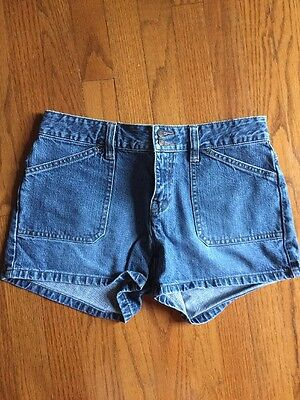OLD NAVY The Best in DENIM BLUE JEANS Women's Bootie Pop SHORTS Pants SIZE 6