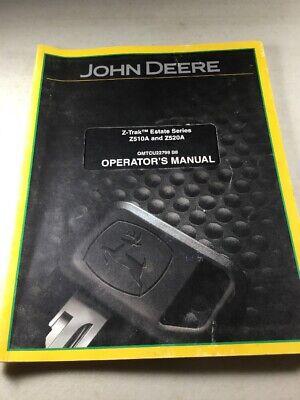 John Deere Z510a Z520a Lawn Tractors Operators Manual