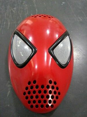 New Spiderman Homecoming Amazing Spider Faceshell with Lens 3D Effect Silicone