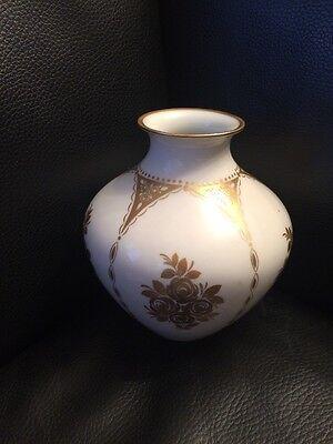 Hutschenreuther, Vase, Blumenvase, Porzellan, Gold Dekor