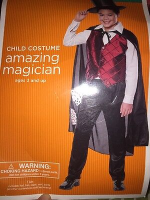 Top Halloween Costumes For Boys (NWT Amazing Magician Top Hat Cape Boys  Halloween Costume Small)