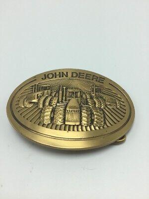 VTG 1981 John Deere & Co 4wd Tractors Moline Illinois Farm Brass Buckle