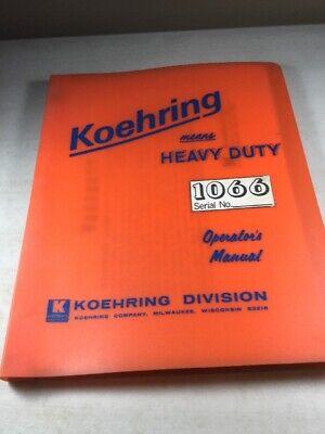 Koehring 1066 Hoe Operators Manual