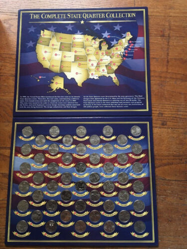 FRANKLIN MINT Complete 50 State UNCIRCULATED QUARTER COLLECTION